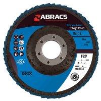 ABRACS 4* FLAP DISC STEEL/STAINLESS STEEL ZIRCONIUM PRO 125X22.2 K40 (1PC)