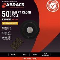 ABRACS EMERY CLOTH ALUMINIUM OXIDE 38MMX50 METRE K80 (1PC)