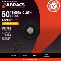 ABRACS EMERY CLOTH ALUMINIUM OXIDE 50MMX50 METRE K120 (1PC)