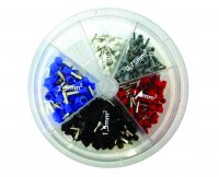 ASSORTMENT CORD END TERMINALS/BOOTLACE FERRULES, INSUL 400-PIECE (1PC)