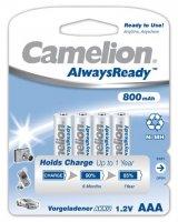 CAMELION RECHARGEABLE AAA/LR03 800MAH BLISTER (4PCS)