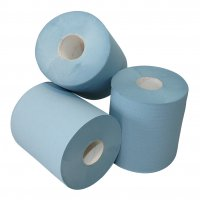 CENTERFEED 1-LAYER RECYCLED BLUE 20X300 MIDI ROLL (6PCS)