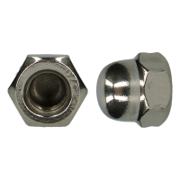 D1587 AISI 304 HEXAGON DOMED CAP NUTS, HIGH TYPE M6 (200)