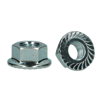 D6923 |8| HEX FLANGED NUT SERRATED ZP M14 (50)