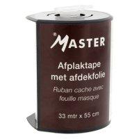 MASTER AFPLAKTAPE + FOLIE, 55CM X 33M, MET DISPENSER (1)