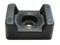 SCREW FIXING MOUNTS BLACK 21.9X15.9MM HEIGHT=9.7 Ø=4.5 FOR CABLE TIE 7.6MM (100PCS)