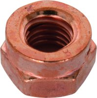 SLOTTED NUT 14441 COPPER PLATED M6X1,0 HEX9 (100)