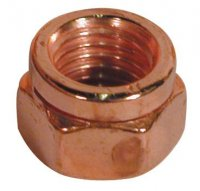 SLOTTED NUT 14441 COPPER PLATED M8X1,25 HEX12 (100)