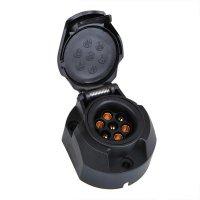 SOCKET 7-POLE PVC + REAR FOG LAMP (1PC)