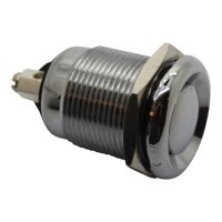 SWITCH PUSH BUTTON STAINLESS STEEL (1PC)