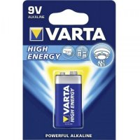 VARTA HIGH ENERGY BATTERY 9V 6LR61 BLISTER (1PC)