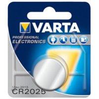 VARTA PRO 3V LITHIUM BUTTON CELL CR2025 BLISTER (1PC)